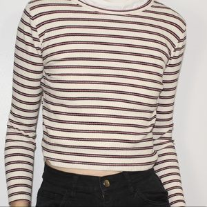 ⚠️3for25 Striped ribbed crop top